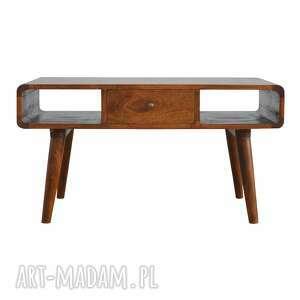 stolik kawowy ława z szufladą styl skandynawski drewno, lite