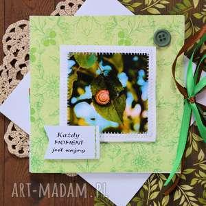 Kartka - każdy moment jest ważny kartki maly koziolek kartka