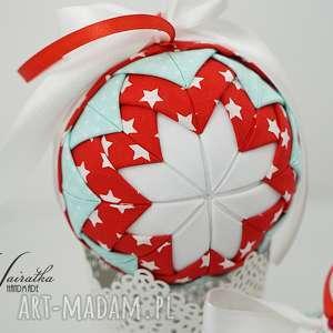 Bawełniana bombka - ,bombka,boże-narodzenie,ozdoba-świąteczna,na-choinkę,