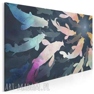obraz na płótnie - sum sumy ryby kolorowy 120x80 cm 94201, sum, sumy