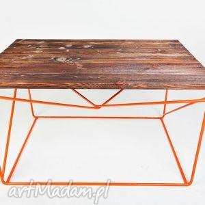 stolik fimbo - drewno z upcyclingu niepowtarzalna podstawa cudo, industrialny