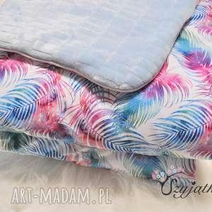 komplet do łóżeczka kolorowe liście, pościel, minky, bawełna premium