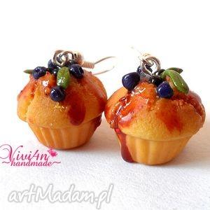 babeczki jagodowe, fimo, modelina, jagody, babeczki, muffinki