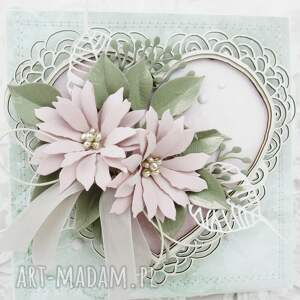 kartka z sercem - w pudełku, ślub, gratulacje, imieniny, życzenia, rocznica