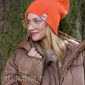 czapki czapa dwustronna logo kolorowe juicy orange, beanie, czapka damska