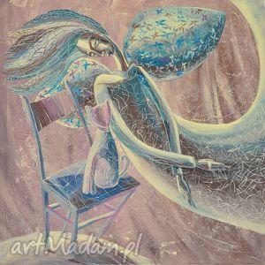 Różowy sen marina czajkowska anioł, sen, różowy, druk,