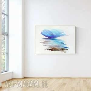 obraz ręcznie malowany 100 x 70 cm, nowoczesna abstrakcja, 2700071