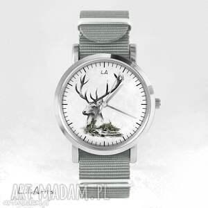 Prezent Zegarek - Jeleń szary, nato, zegarek, bransoletka, góry, jeleń