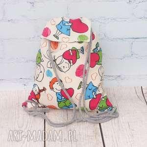 prezent na święta, modny dzieciak, dziecko, serce, plecak, worek, prezent, mikołajki