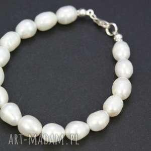 ręczne wykonanie bransoletka perły naturalne