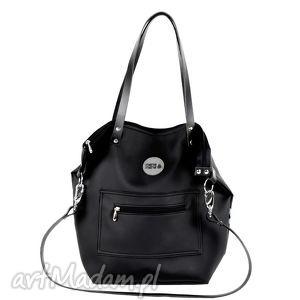 75819b48a644d7 Na ramię handmade torebki różowe.100 zł torba worek all black pocket,  worek, mana-mana, personalizacja, prezent,