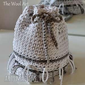 na ramię torebka - worek w stylu boho, torba, worek, sznurkowy, plażowatorba