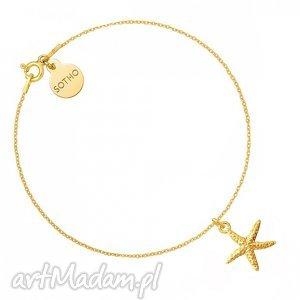 bransoletki złota bransoletka z rozgwiazdą, modna, bransoletka, zawieszka