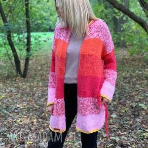 ciepły sweter, kardigan, nadrutach, kolorowysweter