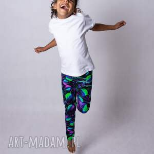 hand-made legginsy dziewczęce violet