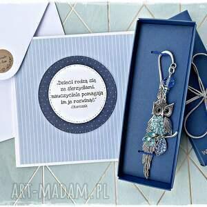 handmade zakładki elegancki prezent dla nauczyciela, dzień nauczyciela
