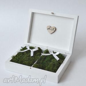 Pudełko na obrączki ślubne Rustykalne, pudełkonaobrączki, ślub, wesele, vintage, boho