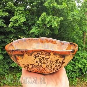 ceramiczna misa-koty c262, misa, ceramiczna, kamionka, koty, miska, użytkowa