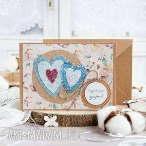 scrapbooking kartki patchworkowe serca kartka ślubna, miłosna, prezent ślubny