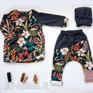 Komplet dla dziewczynki 104-128 (spodnie bluza turban), dla-dziewczynki