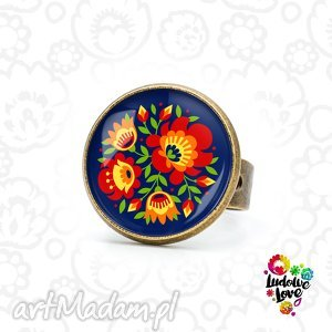 pierścionki pierścionek kwiaty, folk, polskie, wzory, ludowe, etniczne, tradycjyjne