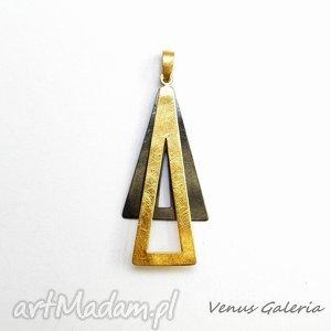 zgrany duet - wisiorek srebrny, srebro, oksyda, pozłocony, kolczyki, venus, biżuteria