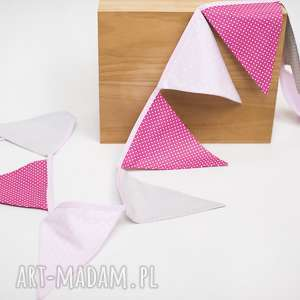 Girlanda trójkąty, dekoracje, chorągiewka, ozdoba, dla-dziewczynki,