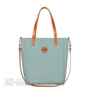 torba damska cuboid waterproof #pistacja, elegancka, skoskóra, wygodna, na-spotkanie
