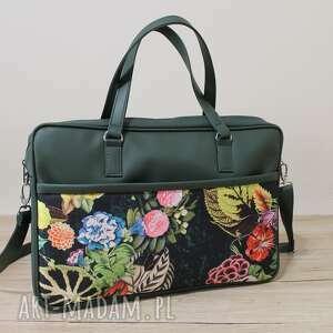 torba na laptop - zieleń i jesienna kompozycja, laptop, elegancka, nowoczesna