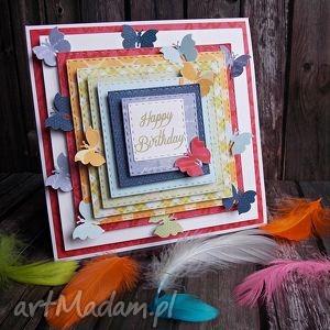 kartka urodzinowa - kartka, urodzinowa, urodziny, rękodzieło