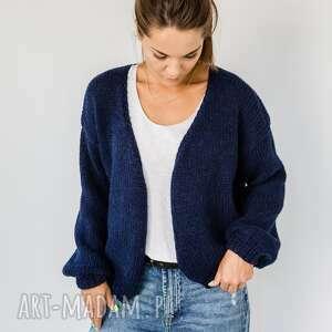 Krótki kardigan swetry hermina sweter rozpinany, z-alpaki