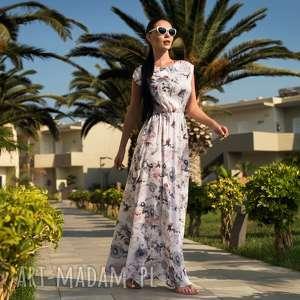 sukienki sukienka nerea maxi piwonia, sukienka, maxi, długa, kwiaty, lato