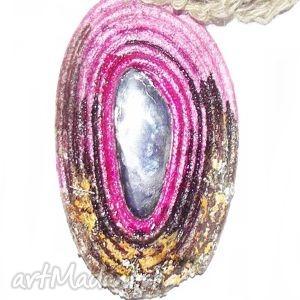 handmade naszyjniki eko różowy naszyjnik