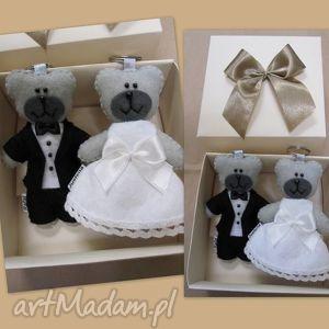 wyjątkowy prezent, breloczki para ślubna, ślub, brelok, filc