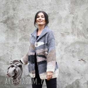 Sweter pastelowy swetry kozaczka unikat, wełna, dzianina