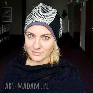 czapka patchworkowa damska etno boho ludowa cekinowa, czapka, etno