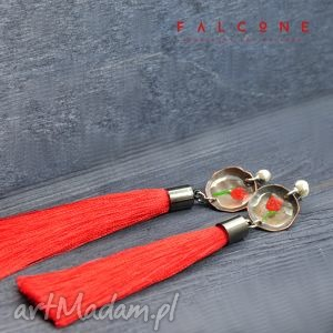 kolczyki tango, kolczyki, srebro, miedź, sztyfty, surowe, długie biżuteria, prezent