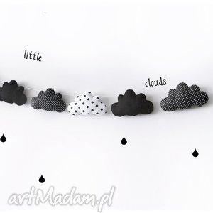 ręcznie zrobione pokoik dziecka chmurki - girlanda