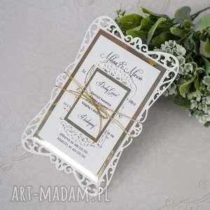 wyjątkowe zaproszenia na ślub, zaproszenia, eleganckie, lustro, laserowe
