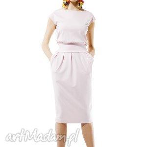 hand-made sukienki pudrowa sukienka mono