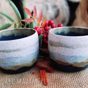dwie czarki ceramiczne ręcznie wykonane - zestaw kubków dla dwojga prezent