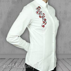 damska koszula sakura z długim rękawem haftem, koszula, damska, kwiaty, haft, folk