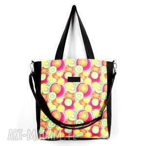 kolorowa torba wodoodporna w owoce cytryny do wózka laptop, torba