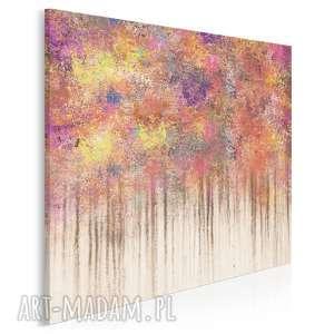 vaku dsgn obraz na płótnie - abstrakcja kolory barwy w kwadracie 80x80 cm 80702