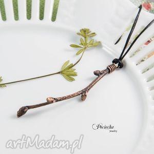 hand-made naszyjniki gałązka - naszyjnik z prawdziwą gałązką