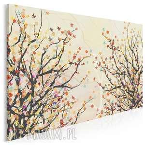 obraz na płótnie - drzewo gałęzie liście kolory 120x80