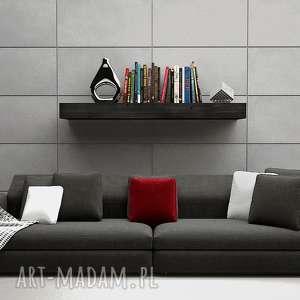 dekoracje półka lite drewno - ciemny grafit 110 cm, półka, dekoracje, lite