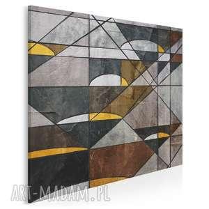 obraz na płótnie - abstrakcja geometria w kwadracie 80x80 cm 16402