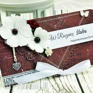 kartka z okazji Rocznicy ślubu, rocznica, kartka, kopertówka, kwiaty