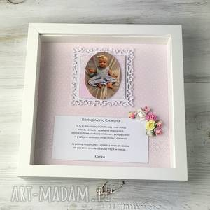 ramka - podziękowanie dla rodziców chrzestnych, prezent